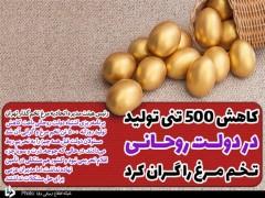 کاهش ۵۰۰ تنی تولید در دولت روحانی، تخم مرغ را گران کرد/ کشور مشکلی در تأمین نهاده ندارد